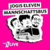 Logo of the podcast 1LIVE Jogis Eleven Mannschaftsbus