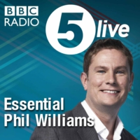 Logo of the podcast Phil Williams with singer/ songwriter Shaun Escoffery