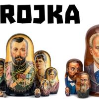 Logo du podcast Trojka! Naar Rusland met Johan de Boose