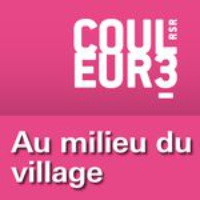 Logo du podcast RSR - Au milieu de village - Couleur 3