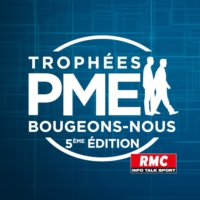 Logo of the podcast RMC : 28/09 - Trophées PME Bougeons-Nous : Interview de Céline Jaulin
