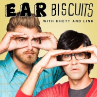 "Logo of the podcast Ep. 77 Rhett & Link ""Head Injuries that Unlocked Geniuses"" - Ear Biscuits"