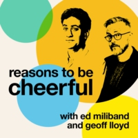 Logo of the podcast Reasons to be Cheerful with Ed Miliband and Geoff Lloyd