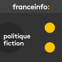 "Logo of the podcast Politique fiction. Rumeurs, intox, ""fake news""... comme dans ""Homeland"""