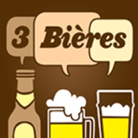 "Logo of the podcast 3 Bieres # 255 ""Busking Triste"" avec Coco Belliveau et Odree Rousseau"