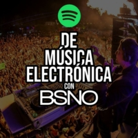 Logo of the podcast De música electrónica con BSNO