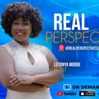 Logo of the podcast Real Perspectives with LeTonya Moore & Mario Brown