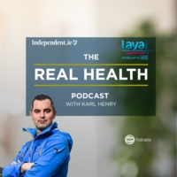Logo of the podcast The Real Health podcast with Karl Henry