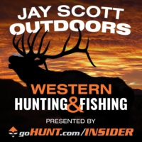 Logo of the podcast Jay Scott Outdoors Western Big Game Hunting and Fishing Podcast
