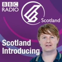 Logo of the podcast BBC Introducing with tunes from Bluebirds, 100 Fables, Sweet White and RINNGs