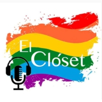 Logo of the podcast El Closet Promo by @prideradiocl