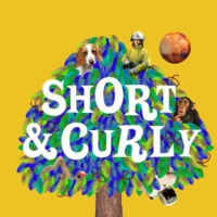 Logo of the podcast INTRODUCING — Short & Curly Goes To America