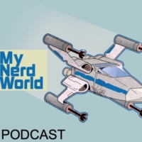 Logo of the podcast My Nerd World: Star Wars Podcast