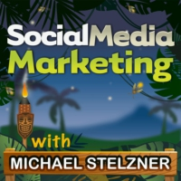 Logo of the podcast Social Media Marketing Podcast helps your business thrive with social media