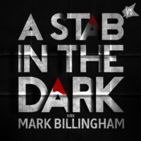 Logo of the podcast A Stab In The Dark: A UKTV Original Crime Podcast with Mark Billingham