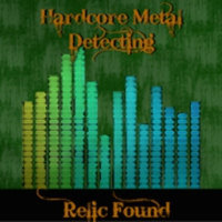 "Logo of the podcast Hardcore Metal Detecting Radio ""Test Show"""