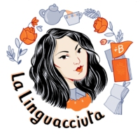 Logo of the podcast La linguacciuta