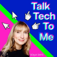 Logo of the podcast 7: Millennial podcaster Pandora Sykes talks tech with Jackie Annesley