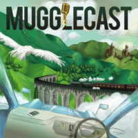 Logo of the podcast MuggleCast: the Harry Potter podcast