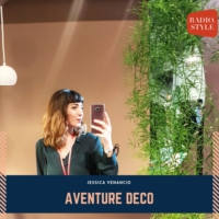 Logo of the podcast AVENTURE DECO by Jessica Venancio