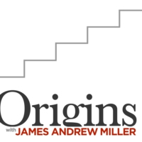 Logo of the podcast Origins with James Andrew Miller