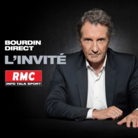 Logo of the podcast RMC : 03/01 - L'invitée de Bourdin Direct : Marine Le Pen
