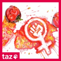 Logo of the podcast Passierte Tomaten - Der Feminismus-Podcast der taz