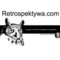 Logo of the podcast Retrospektywa.com - podcast, w którym rozmawiamy o projektach!