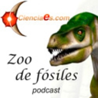 Logo of the podcast Smilodon populator, el tigre de dientes de sable sudamericano.