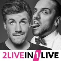 Logo of the podcast 2LIVE in 1LIVE mit Luke Mockridge und Ingmar Stadelmann Folge 01