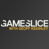 Logo of the podcast #1: Gabe Newell and Erik Johnson from Valve