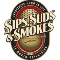 Logo of the podcast Sips, Suds, & Smokes