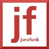 Logo of the podcast Jurafunk Nr. 71: Kachelmann-Fotos, Loriot-Briefmarken bei Wikipedia, Impressumspflicht bei facebook…