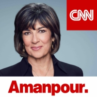 Logo of the podcast Amanpour: David Axelrod, Erna Solberg, Kara Swisher, Carl Cameron and Dr. Sheri Fink