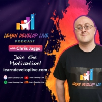 Logo of the podcast Motivation & Inspiration from Learn Develop Live with Chris Jaggs