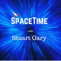 Logo of the podcast Five percent of dark matter lost - SpaceTime with Stuart Gary Series 20 Episode 1