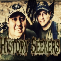 Logo of the podcast David Hill and Lee Liehr admins on Facebook group Dig It Metal Detecting