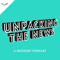 Logo of the podcast Unpacking the News by Ricochet Media