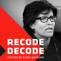 Logo of the podcast Recode Decode, hosted by Kara Swisher