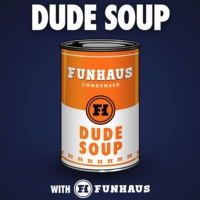 "Logo of the podcast ""It's like Netflix with Games!"" - Dude Soup Podcast #125"