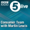 Logo du podcast 5 live Consumer Team with Martin Lewis