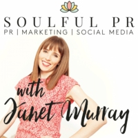 Logo of the podcast Soulful PR Podcast with Janet Murray |PR|Marketing|Social Media