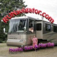 Logo of the podcast RV Navigator Episode 126 -  A pause in the Tavel