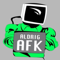 Logo of the podcast Afhængig af computerspil