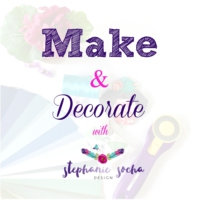 Logo of the podcast Make and Decorate with Stephanie Socha Design
