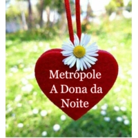 "Logo of the podcast ""Metrópole a Dona da Noite"""