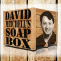 Logo of the podcast David Mitchell in 3D