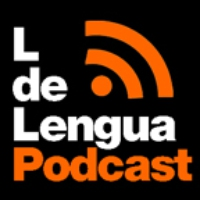 Logo of the podcast LdeLengua 94 hablando sobre cibercomunidades de aprendizaje
