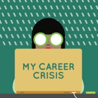 Logo of the podcast My Career Crisis Trailer