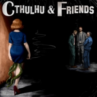 Logo of the podcast Cthulhu & Friends Reads: 'Twas the Night Before Creepmas